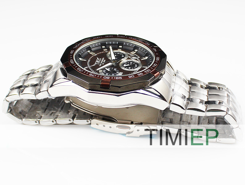 ФОТО Unique Chocolate Dial Multifunction Time 100M Waterproof 330FT Diving Mens Watch