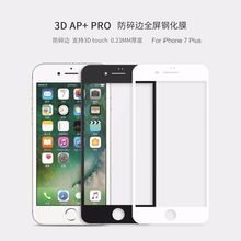 Nillkin 3D 0.23mm fully cover AP+ Pro Anti-Explosion For iphone 7 plus AGC glass + ABS Resin protector for iphone 7 plus (5.5″)