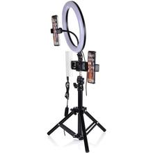 26 16 سنتيمتر العناية بالبشرة مصباح Led عدسات الكاميرا حلقة ضوء ترايبود الهاتف المحمول المشبك يشكلون ل شاومي آيفون يوتيوب لايف فيديو