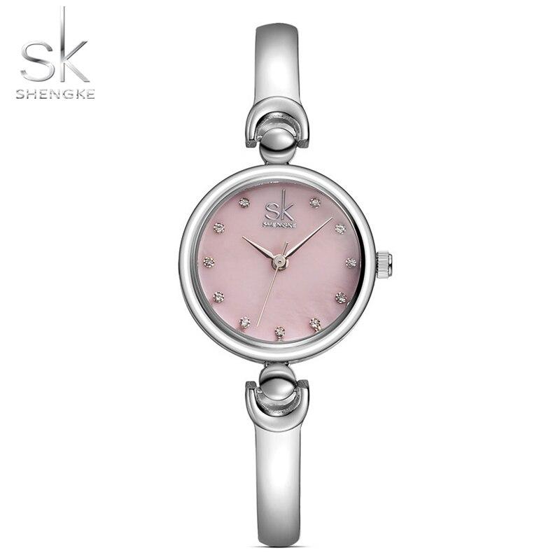 Shengke Reloj Mujer Fashion Armband Armbandsur Märke Kvinnlig Geneva - Damklockor - Foto 5