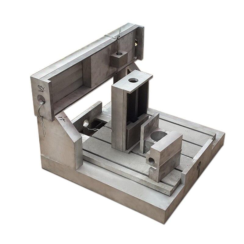 CNC Machine de gravure cadre entièrement moulé 6090 CNC routeur 6060 cadre de coulée 2.2KW broche montage 80mm