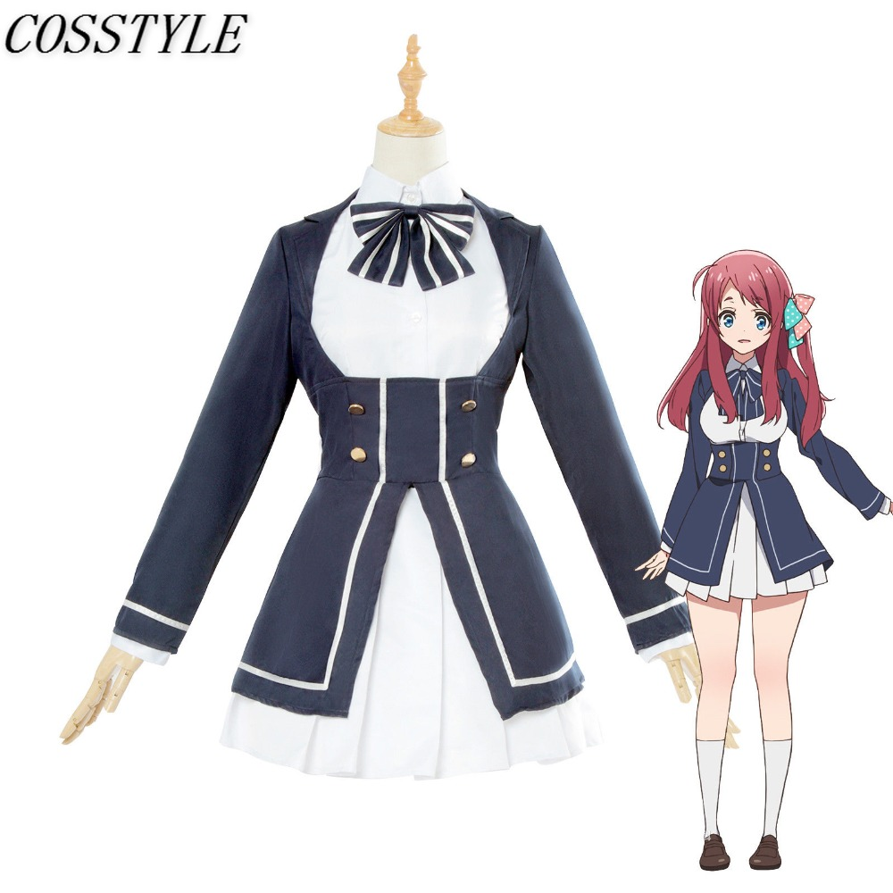 ZOMBIE LAND SAGA Minamoto Sakura Cosplay Costume Japanese Anime Girls School Uniform Dress Suit Outfit Women Full Set