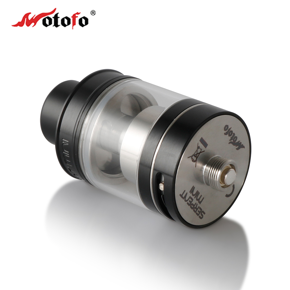 Original wotofo serpent mini rta tank single coil build deck dual adjustable airflow 3ml capacity atomizer