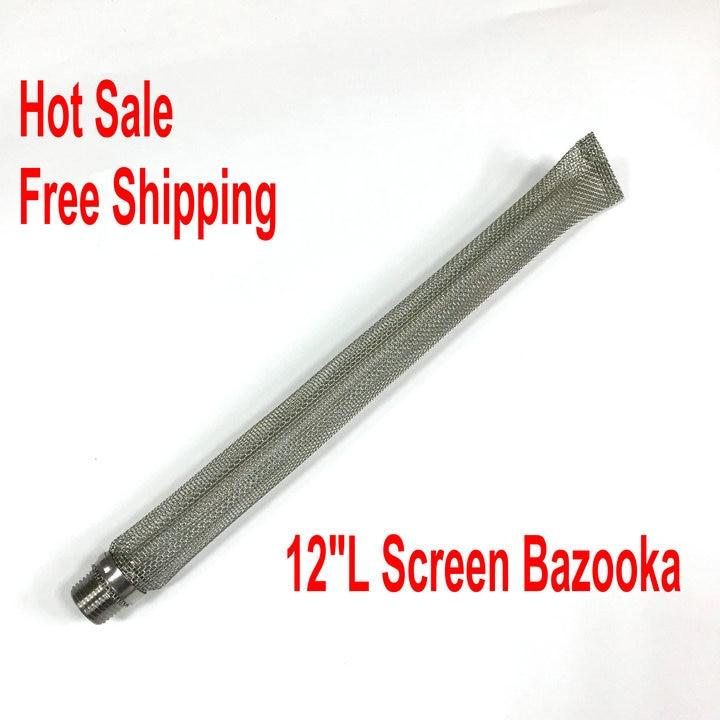 12 zoll 30 cm Edelstahl Bazooka Screen 1/2 ''NPT Für Homebrew Bier Wasserkocher oder Maischbottich/mesh Filter