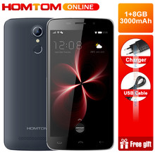 HOMTOM HT17 Mobile phone Android 6.0 1280*720 Quad Core 1GB+8GB 3000mAh fingerprint 4G FDD(China)