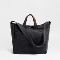 MUCHUAN Canvas Shoulder Bags Environmental Shopping Bag Tote Package Crossbody Bags Purses Casual Handbag For Women