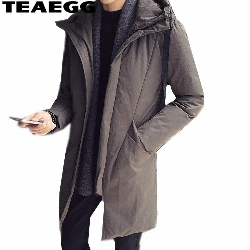 TEAEGG veste d'hiver hommes à capuche chaud coton hommes Parkas Manteau Homme Hiver décontracté kaki hommes vestes d'hiver et CoatsAL1502