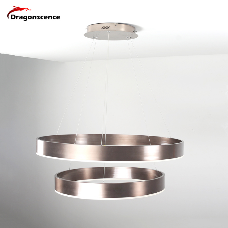 Dragonscence New Modern LED Pendant lights lamp for living room dining room 4/3/2/1 Circle Rings acrylic ceiling Lamp fixtures blue time new modern pendant lights for living room dining room 4 3 2 1 circle rings acrylic led lighting ceiling lamp fixtures