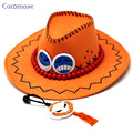 Japan Anime Hat One Piece Portgas.D. Ace Hat Cosplay Accessories With Rope Unisex Cap for Women Men