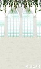 5x7ft Fantasy Window Background For Photography Green Chromakey Decor Indoor Photo Studios Muslin Fabric Backdrop Popular Item