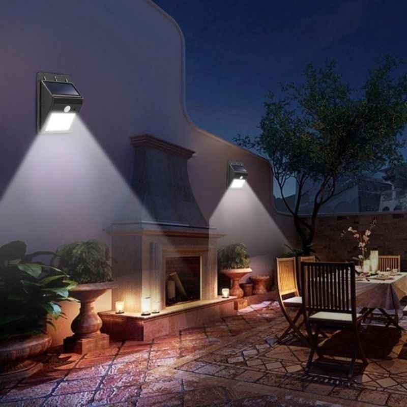 30 светодиодный наружный настенные лампы, работающие от солнечной энергии садовый свет украшения PIR датчик движения Ночной безопасности настенный свет вечерние освещение