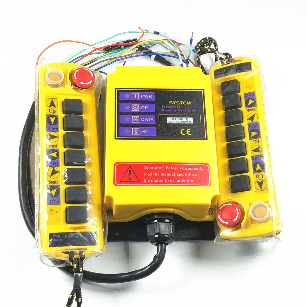 1 Speed 2 transmitter Control Hoist Crane Radio Remote Control System Controller 3 motion 2 speed 1 transmitter hoist crane truck radio remote control push button switch system controller