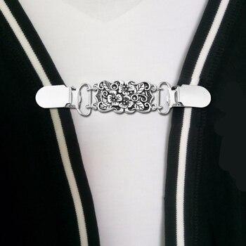 Цветочный зажим на воротник рубашки кардиган держатель свитер зажим для шали с уткой рот одежда булавки швейные зажимы для подтяжки