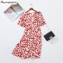 Summer Dress Women 2019 Plus Size 5xl Red O-neck Short Sleeve Party Dress Free Shipping Card Pack Vestidos De Verano Robe Longue(China)