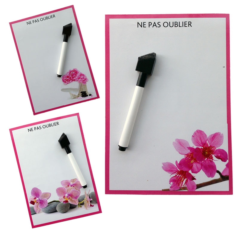 flower The orchid printed Dry Erase Flexible Magnetic Whiteboard/Message board/Memo Pad/Dialog Box Magnet