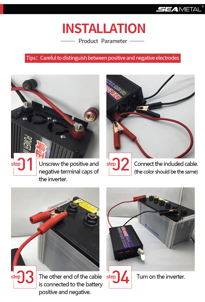WORKSTAR Peak 1000W Pure Sine Wave Inverter DC 12V/24V to AC220V 50HZ OFF Grid Inverter Solar System Inverter Warranty 2 Years