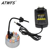 ATWFS High Quality 24V 12 LED Ultrasonic Mist Maker Fogger Ultrasonic Diffuser Humidifier Fountain Nebulizer Atomizer