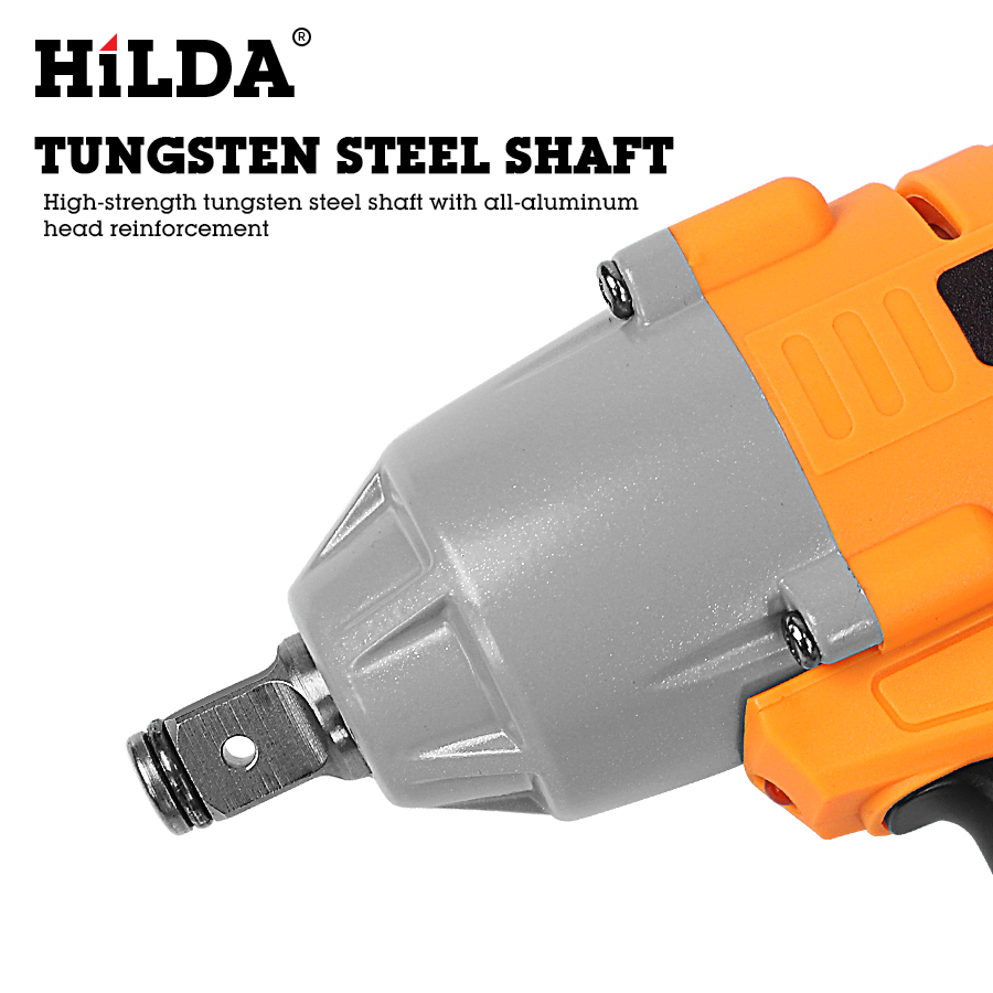 HILDA 21V Cordless Impact Electric Wrench Brushless Socket Wrench Power Tools 3
