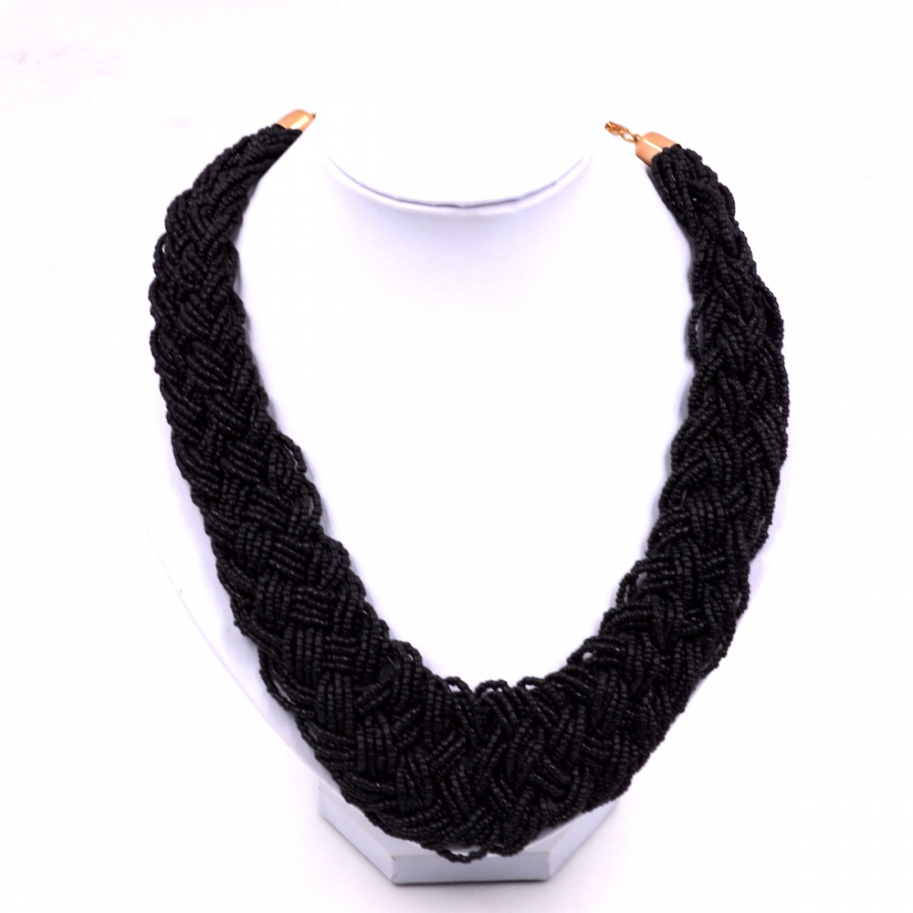 Fashion Women chain jewelry Fashion jewelry bohemia Woven Black Seed Bead Necklace for womens Fashion Women Jewelry Gift ювелирный набор jimore 2015 whol women fashion jewelry