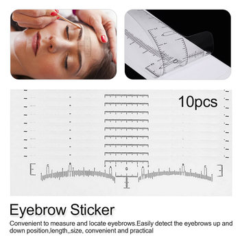 10 pcs eyebrows ruler stickers Disposable  Ruler Sticker Eyebrow Shaping Makeup Measure Stencil Makeup Tools