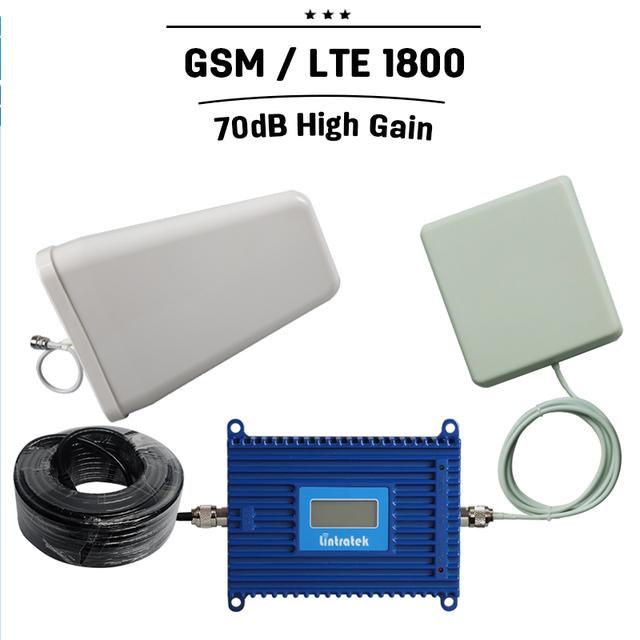 Display LCD de Controle Inteligente GSM DCS 4G LTE 1800 mhz 70dB ganho 20dBm Reforço De Sinal Celular Amplificador de Telefone Celular Móvel Para casa