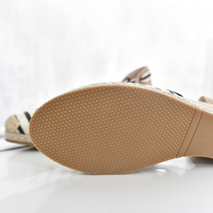 Image 3 - 5 סנטימטר עקב טריז נשים 2019 קיץ נעלי בד סנדלי