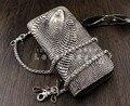 Змеиная кожа Стиль мужская Мотоциклов Байкер Кожаный Бумажник с брелок