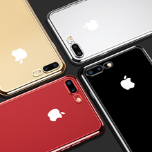 Luxury Transparent Soft Silicone Phone Case for iPhone 6, iPhone 7, iPhone 8, iPhone X