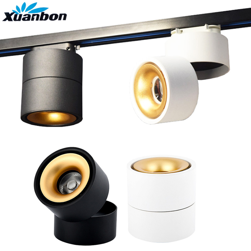 Dimmable Led Track Lighting Spotlight Track Light Modern Cob Home Lamp 10W 15W Wall Lamp For Clothes Shoe Store Showroom Shop