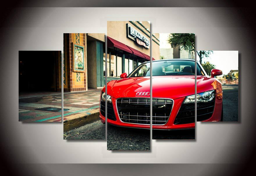 aliexpresscom buy hd printed audi car 5 piece picture painting wall art childrens room decor poster canvas free shippingup 176 from reliable canvas