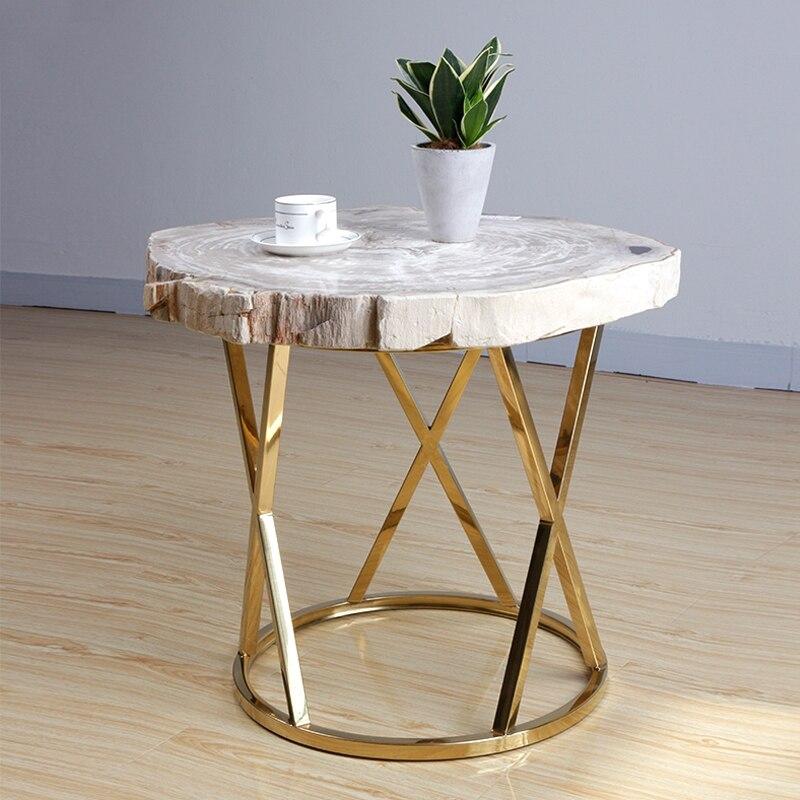 43 кг природные окаменелое дерево Fossil Desktop столик Кофе Таблица ночь Nordic Стиль Мебель для дома