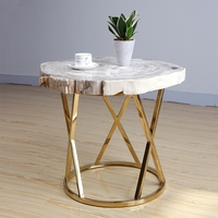 43kg Natural Petrified Wood Fossil Desktop End Table Coffee Table Night Stand Nordic Style Home Furniture