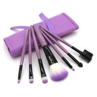 VERONNI 7 makeup brushes Man made fiber wooden handle makeup brush Multi color portable beauty tools