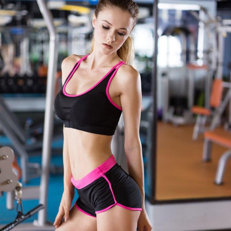 Yuerlian Collant A Compressione Allenamento di Fitness Yoga Sexy Set Donna  Sport Tuta Da Ginnastica Pantaloncini Abbigliamento Sportivo Sport a04e432feca