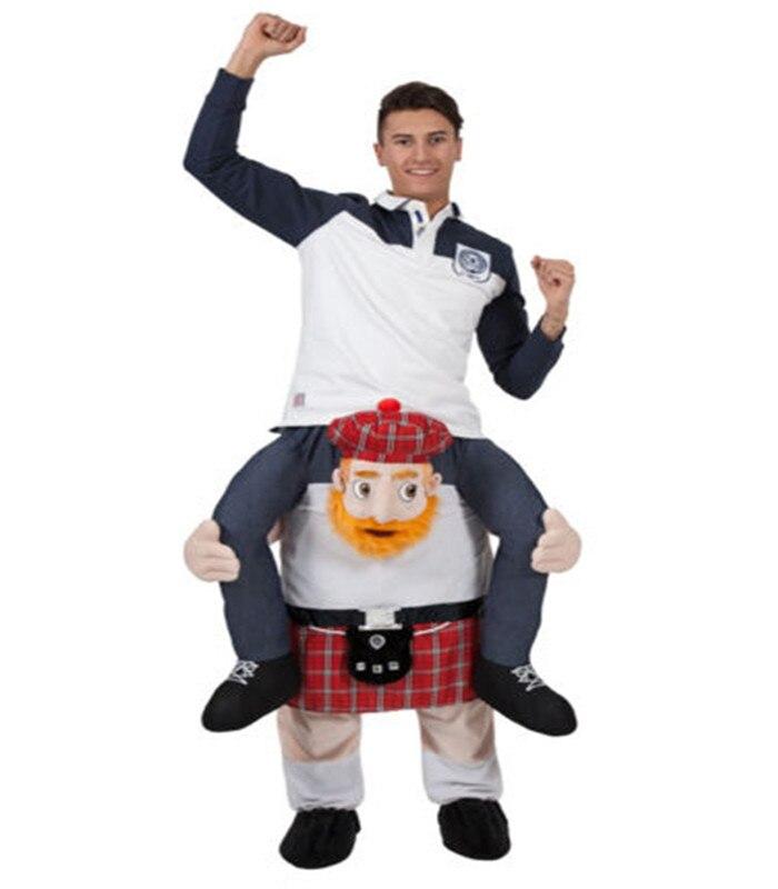 Tour drôle Sur Me Mascotte Cosplay Transporter Sur Animaux Pantalon Robe Up Halloween tenue de fête De Noël
