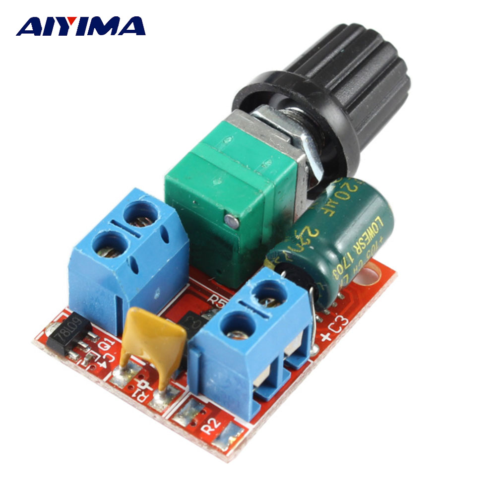 Aiyima 10pcs Micro 400 Motors Dc3v 6500rpm Small Solar Motor Diy Dc Rf 300ca Low Current Mini Pwm Speed Controller 3v 35v 5a Switch With Led Dimmer