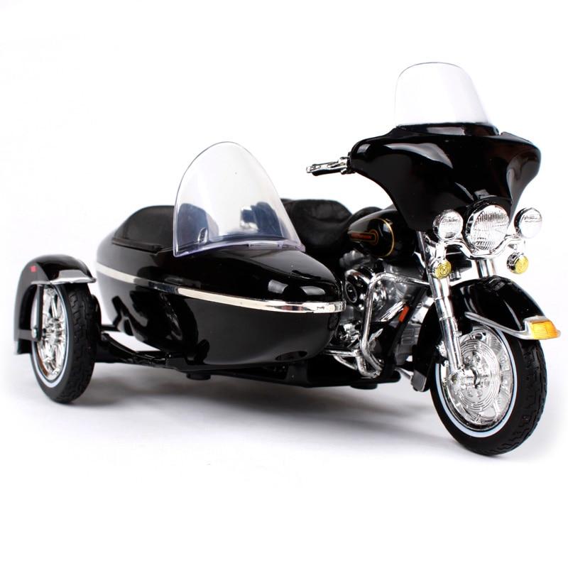 Maisto 1:18 vintage harley motorfiets zijspan diecast voor - Auto's en voertuigen