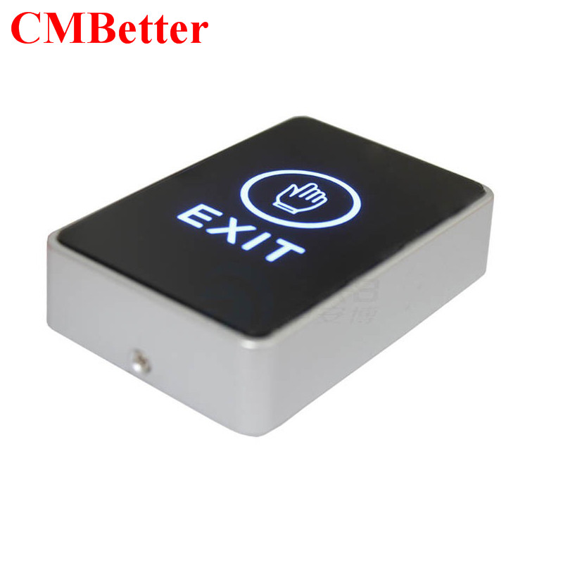 Installed Door Exit Button Touch Release Push Switch Contactless with Bule light for Electronic Door Lock Access Control System lpsecurity stainless steel door access control led backlit led illuminated push button door lock release exit button switch