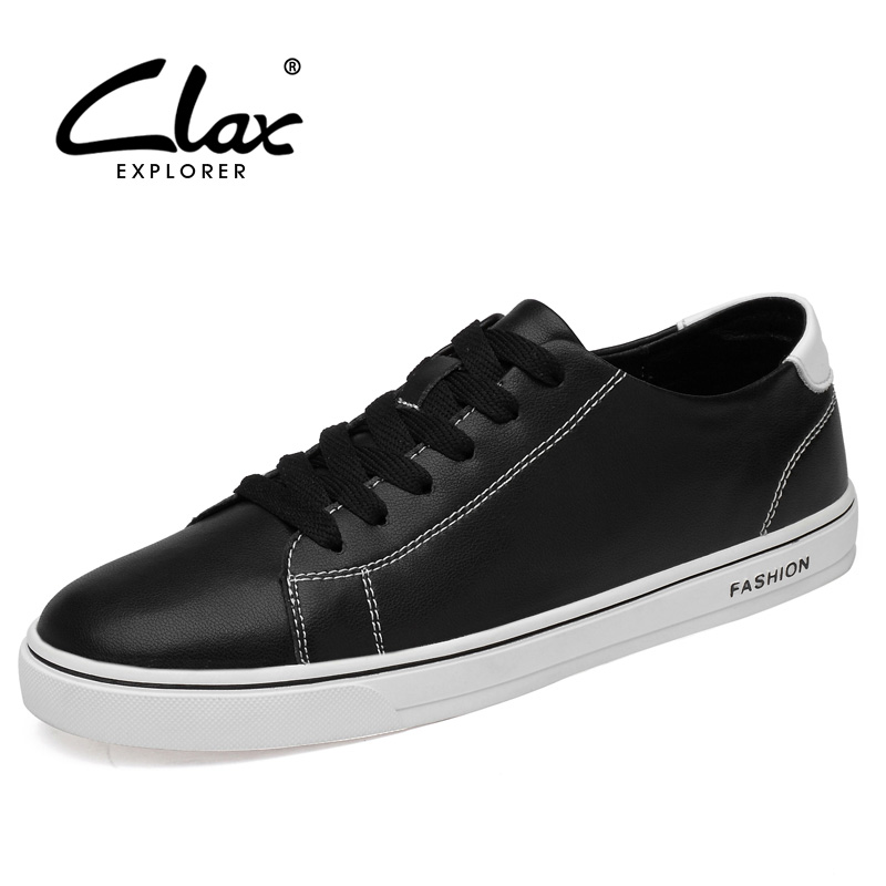 CLAX Mans Shoes Leather 2019 Spring Summer Male Casual Shoe Fashion Men Walking Footwear Flats