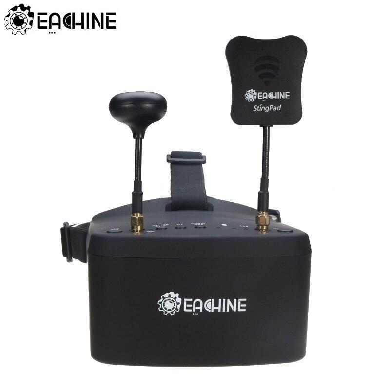 Eachine ev800d 5.8g 40ch 5 Polegada 800*480 vídeo fone de ouvido hd dvr diversidade fpv óculos com bateria para rc modelo