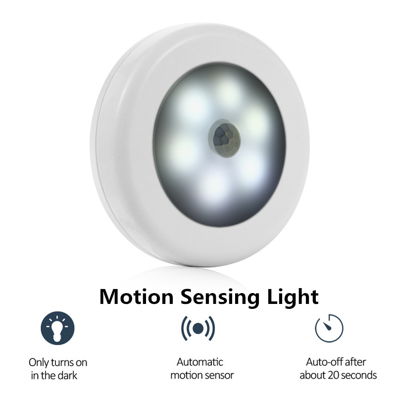 6 LED Touch Night Light PIR Body Motion Sensor Activated Wall Light Induction Lamp Closet Corridor Cabinet LED Sensor Light led pir body automatic motion sensor wall light sensor night light usb rechargeable induction lamp for closet bedrooms