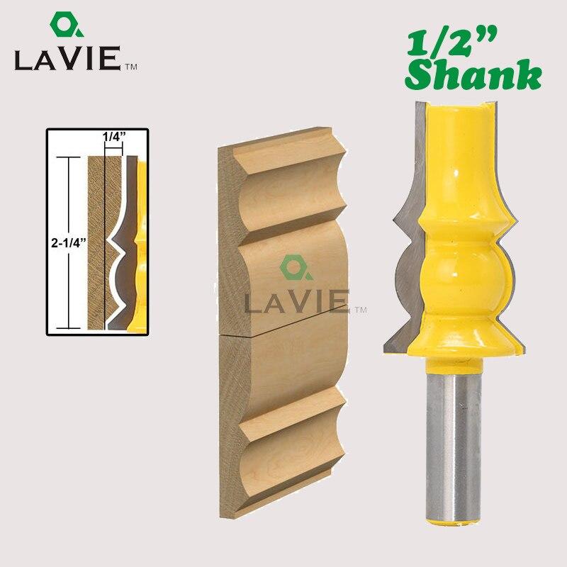 LA VIE 1pc 1/2 Shank Lamp Model Armrest Crown Molding Router Bit Concave Radius Bits Extender Tenon Cutter For Woodworking 03048 1pc 1 2 shank crown molding router bit extender tenon cutter for woodworking tools