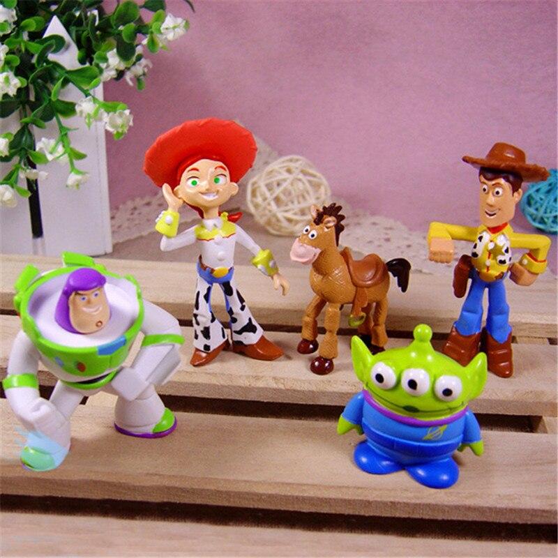 Detalle Comentarios Preguntas sobre 5 unids set historieta Toy Story 3  Woody Buzz Lightyear Jessie Slinky perro extranjeros PVC figura de acción  juguete ... 6459d0843ff