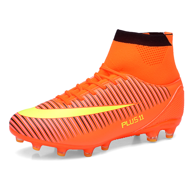 Outdoor Little Kid Big Kids Adult Soccer Football Boots High Top Cleats FG Soccer  Football Athletic Sneakers Shoes EU Size 31-46 86181f53c9e
