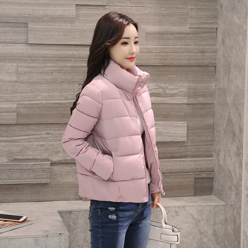 speedo solid leisure 15 2017 Fashion Leisure Winter Korean Loose Solid Women Parka Short Coat Thickened Warm Cotton Female Jacket Coat