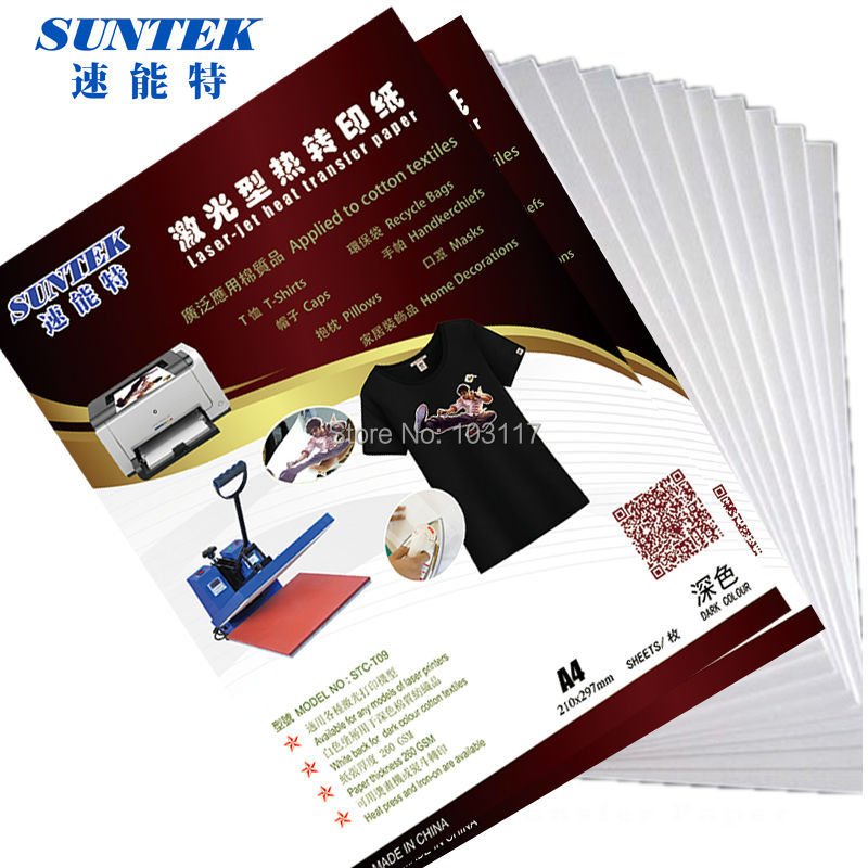 Printable Heat Transfer Paper For Color Laser Printers A3 Size Dark