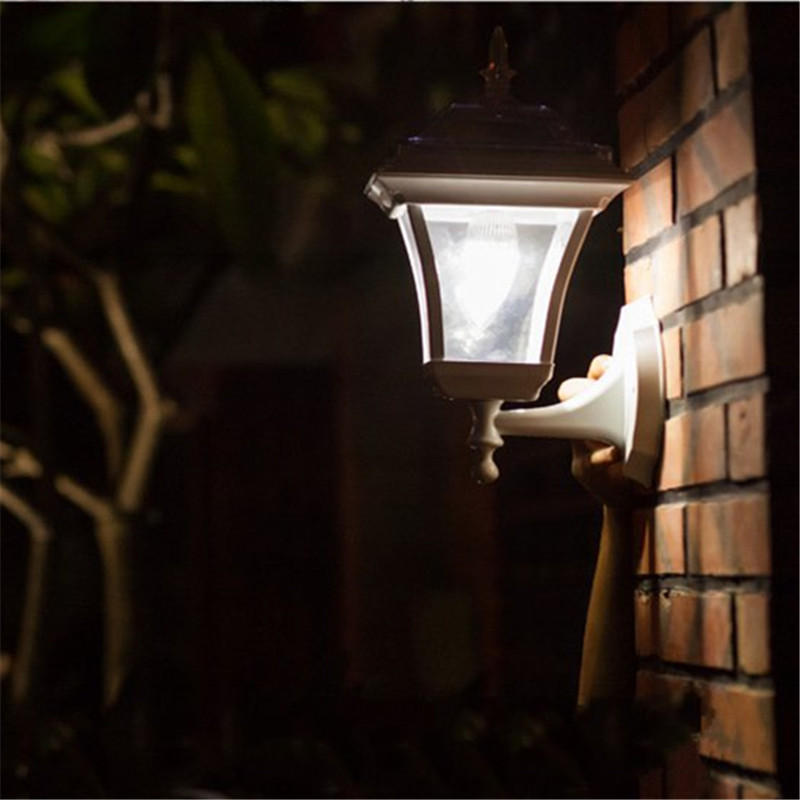 European Style LED Solar Powered Wall Porch Light Motion Sensor Lamp Garden Outdoor Waterproof Energy Saving Garland Decor