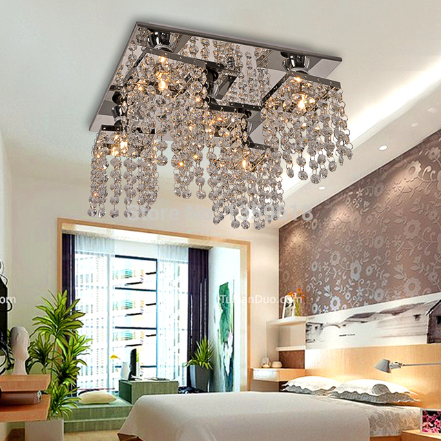 Modern Crystal Ceiling Lamp Light Hallway Lighting Fixture Bedroom ...