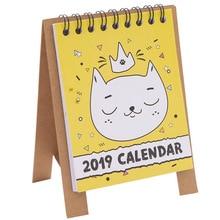 Блокнот для заметок милые настольные календари креативный ежедневник Мультфильм План липкий дневник набор канцелярских принадлежностей