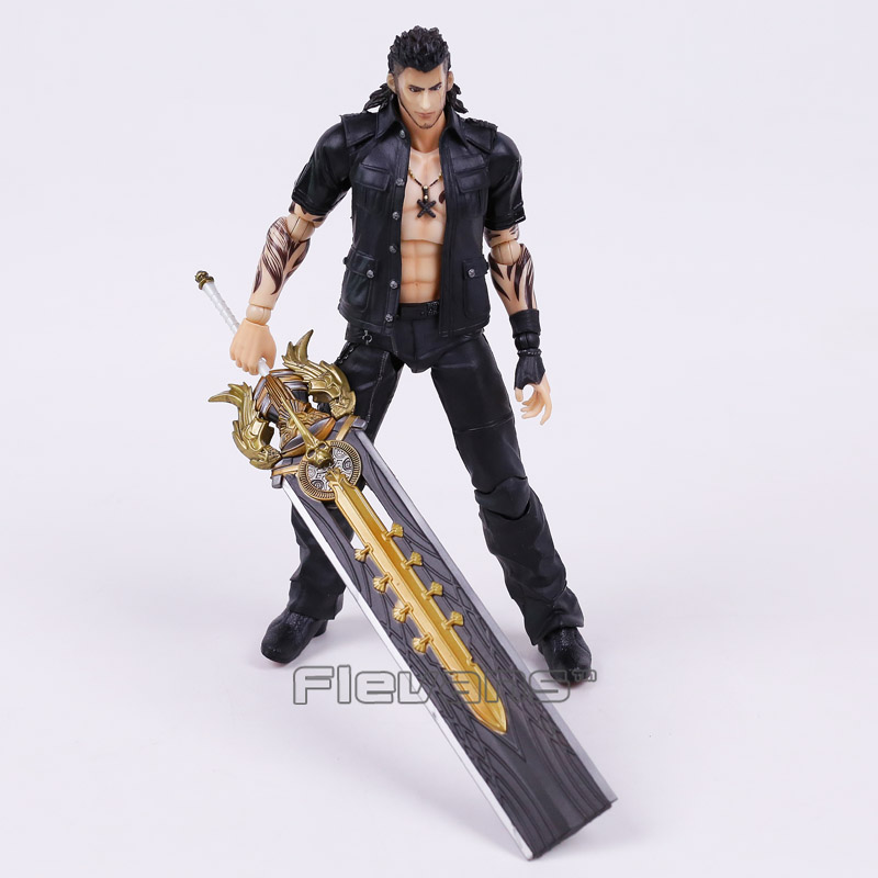 PLAY ARTS KAI Final Fantasy XV Gladiolus Amicitia PVC Action Figure Collectible Model Toy play arts kai street fighter iv 4 gouki akuma pvc action figure collectible model toy 24 cm kt3503